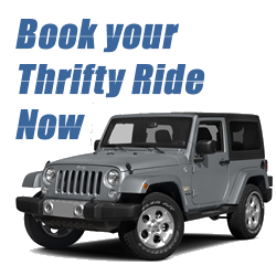 Book your car through Thrifty Car Rental or Dollar Rent a Car in St. Thomas USVI Virgin Islands